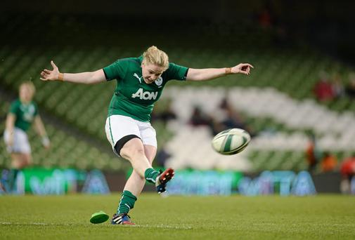 Niamh Briggs isn't looking any further than today's match against the USA. Picture credit: Brendan Moran / SPORTSFILE