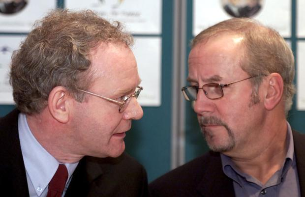 Martin McGuiness (left) meets Colin Parry