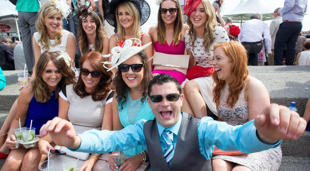 Racegoers on ladies day at the Galway races. Pic:Mark Condren