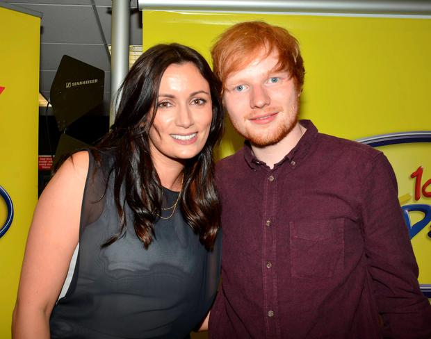 Ed Sheeran performs at HMV Henry Street as guest on Today FM's Louise Duffy Show