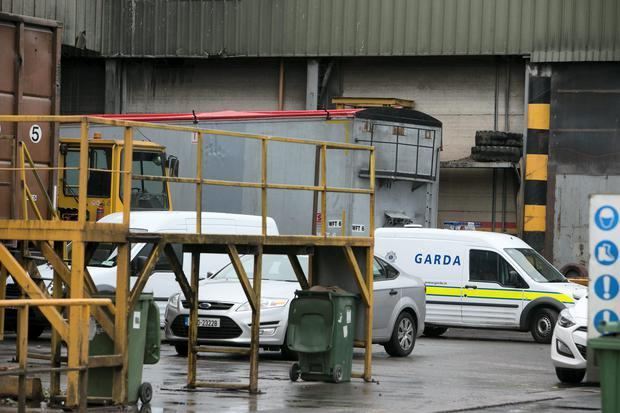 Thorntons Recycling Plant Kileen Rd Ballyfermot where a Human leg was found overnight
