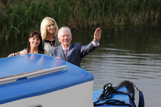 Yvonne Keating, Gay Byrne and soprano Celine Byrne.
