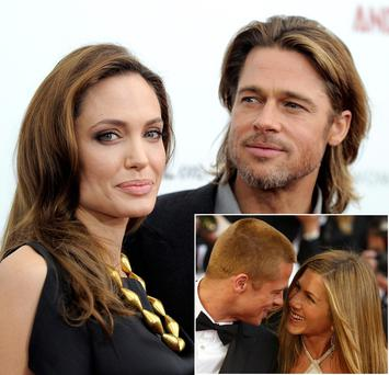 Angelina and Brad first met on the set of Mr and Mrs Smith in 2004 when he was married to Jennifer Aniston who have long been pitted as love rivals