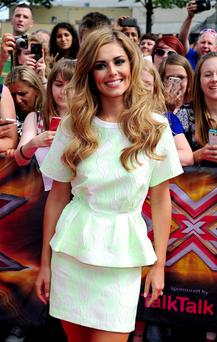 Cheryl Fernandez-Versini attending the filming of the X Factor at Wembley Arena in London