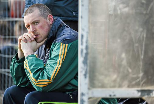 Kieran Donaghy's frustration shows as he watches Kerry lose their league game to Cork in Tralee