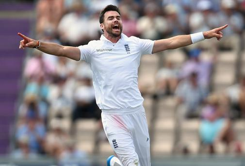 England bowler James Anderson. Photo by Stu Forster/Getty Images
