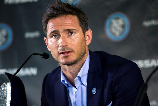 Frank Lampard answers questions after being introduced as a member of the MLS expansion club New York City FC. Photo credit: AP Photo/Craig Ruttle