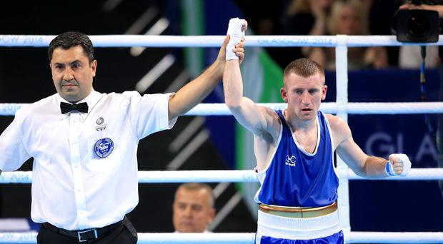 Paddy Barnes is announced as the winner in the Men's Light Fly (49kg) Final