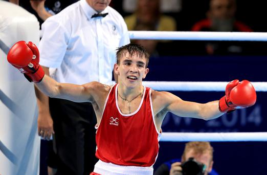 Ireland's Michael Conlan celebrates his victory