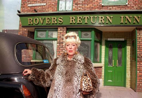 The Regular: Julie Goodyear as Bet Lynch in a vintage episode of 'Coronation Street'. But what else will UTV Ireland bring to the Republic's viewers?