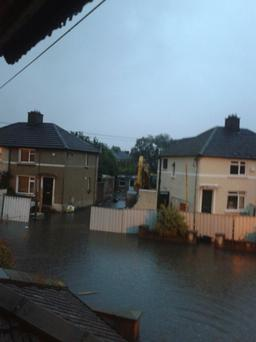 Flooding on Clanmoyle Road Donnycarney Credit: Toni Joyce