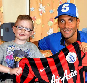 Sean Scully with footballer Rio Ferdinand