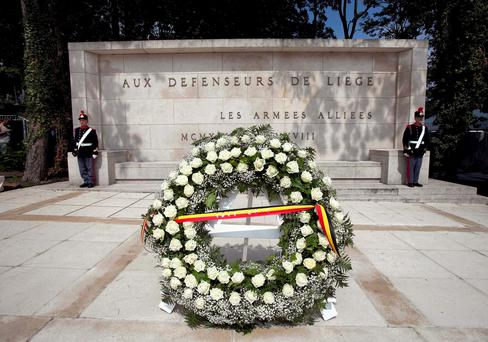 The Commemoration Ceremony at the Monument Interallies at Cointe, Liege. Picture by Shane O'Neill / Copyright Fennell Photography 2014.