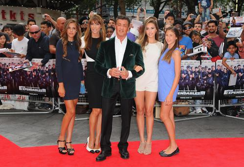 Sylvester Stallone and family attend the World Premiere of