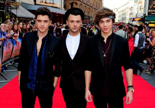 Union J attending the premiere of new film The Inbetweeners 2 at the Vue Cinema in London.