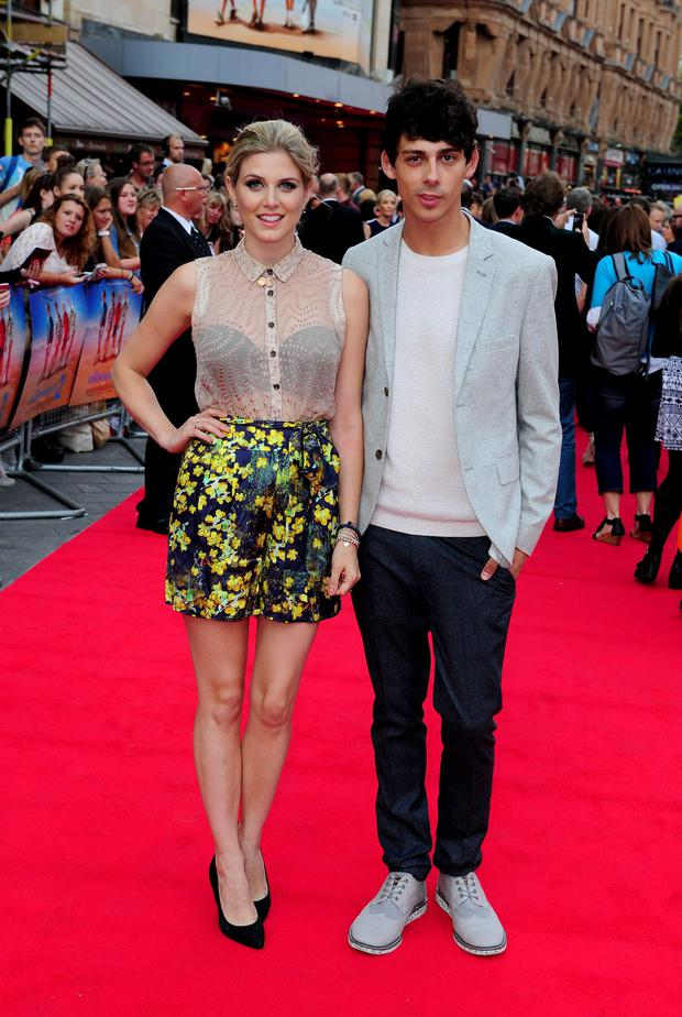 Ashley James and Matt Richardson attending the premiere of new film The Inbetweeners 2 at the Vue Cinema in London.