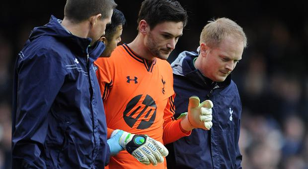 Tottenham goalkeeper Hugo Lloris played on despite being concussed in a game against Everton last season. Photo: Chris Brunskill/Getty Images