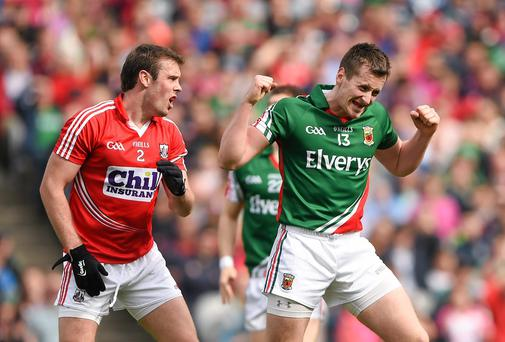 A gang of four dominant counties - of which Mayo are one - look set to break away from their opposition. Photo: Stephen McCarthy / SPORTSFILE