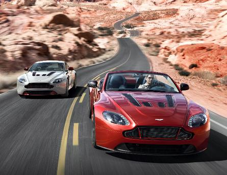 The V12 Vantage S Roadster will be shown at the Pebble Beach Automotive Week from August 14.