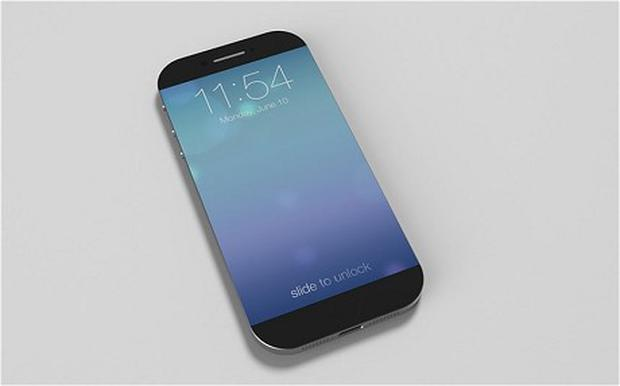 An iPhone 6 concept by Nikola Cirkovic, which sees the screen extended across the entire width of the device