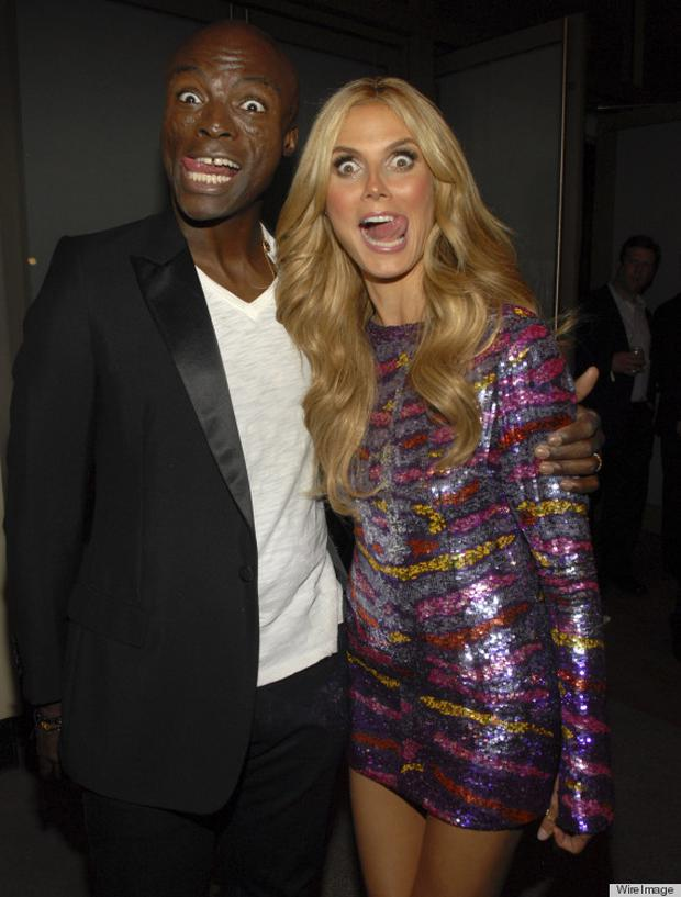 Singer Seal and model Heidi Klum