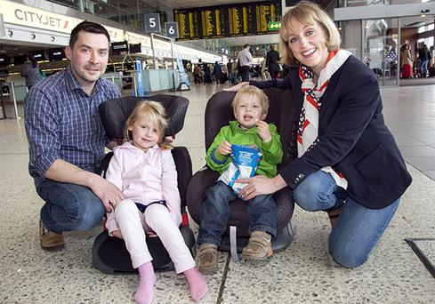 Dubliner Olivia Typrowicz, her husband Bartek and their children Anya (5) and Nicholas (2). The couple run The Stork Exchange at Dublin Airport.