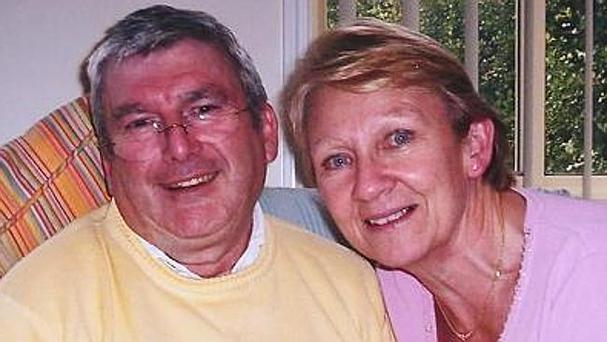 Murdered jeweller Dermot O'Toole and wife Bridget