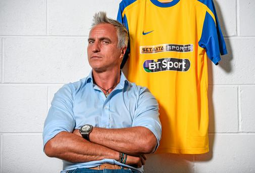 David Ginola in Dublin to launch Setanta Sports' coverage of the forthcoming Barclays Premier League season. Photo: Brendan Moran / SPORTSFILE