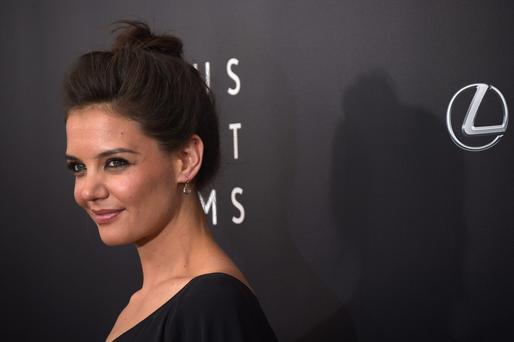 "Actress Katie Holmes, ""The Giver"", attends the The 2nd Annual Lexus Short Films ""Life is Amazing"" New York premiere presented by The Weinstein Company and Lexus at SVA Theater on August 6, 2014 in New York City. (Photo by Michael Loccisano/Getty Images for The Weinstein Company)"