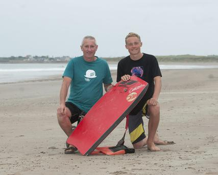 Tom Kennedy and Bill Cronin who saved the lives of two young children in Castlegregory.