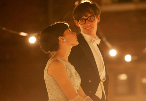 Eddie Redmayne and Felicity Jones in Stephen Hawking biopic 'The Theory of Everything'