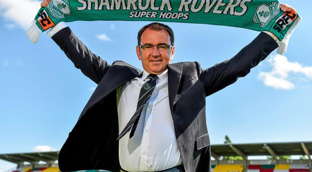Pat Fenlon after being unveiled as the new Shamrock Rovers manager