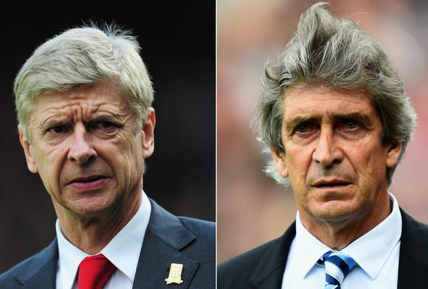 Manuel Pellegrini, right, and Arsene Wenger