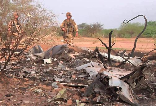 The devastated Air Algerie crash site in Mali. REUTERS