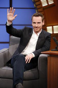 LATE NIGHT WITH SETH MEYERS -- Episode 084 -- Pictured: Actor Michael Fassbender during an interview on August 7, 2014 -- (Photo by: Lloyd Bishop/NBC/NBCU Photo Bank via Getty Images)