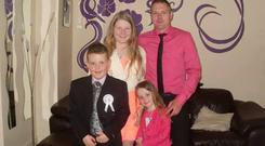 Danny and their three children - Sophie , Scott and Stacey