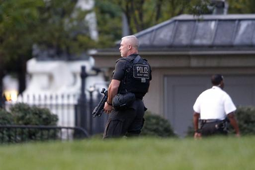 The toddler caused a security alert at the White House