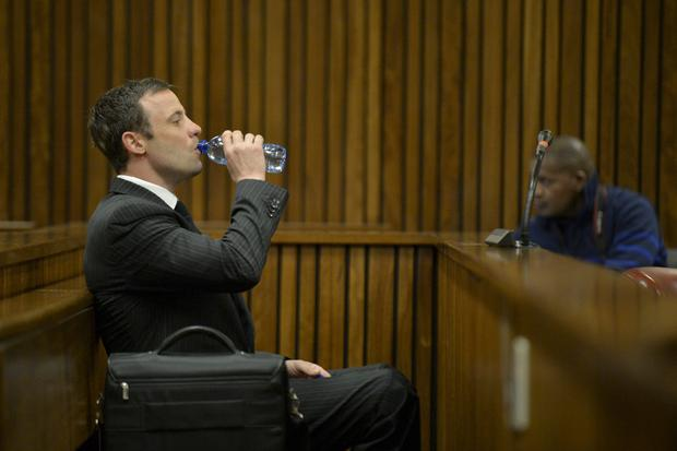 Oscar Pistorius in the Pretoria High Court on August 8, 2014, in Pretoria, South Africa. Oscar Pistorius stands accused of the murder of his girlfriend, Reeva Steenkamp, on February 14, 2013. (Photo by Herman Verwey-Pool/Foto24/Gallo Image/Getty Images)