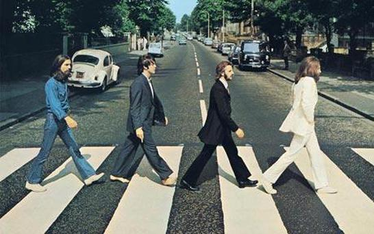 The iconic cover image from the cover of Abbey Road. Picture: PA