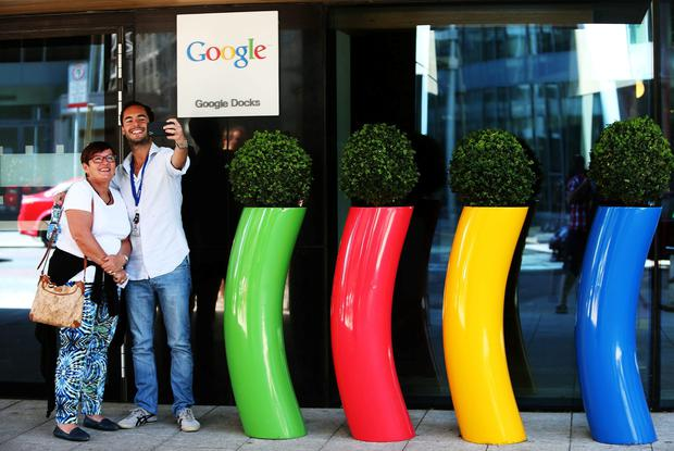 Google Dublin's offices on Barrow Street: The company is among the top 1pc of richest companies