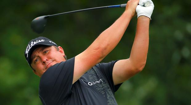 Jason Dufner was forced to abort his US PGA Championship title defence as he withdrew due to a lingering neck injury