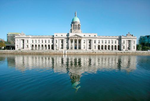 The Custom House in Dublin is being used as a haven for junkies