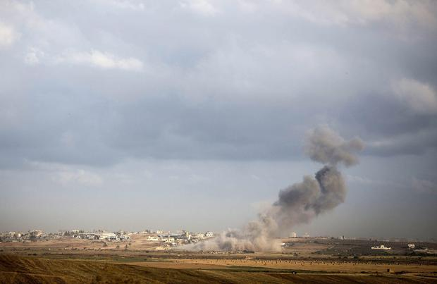A suspected tunnel is detonated on August 3, 2014 near the border with Gaza