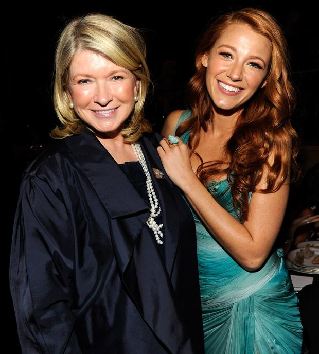 Martha Stewart and Blake Lively
