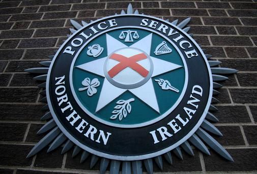 A coat of arms pictured at the Police Service of Northern Ireland (PSNI) Headquarters in Belfast. Photo: PeterMuhly/AFP/Getty Images)