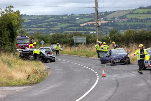The scene of the crash in Carlow. Picture: Dylan Vaughan
