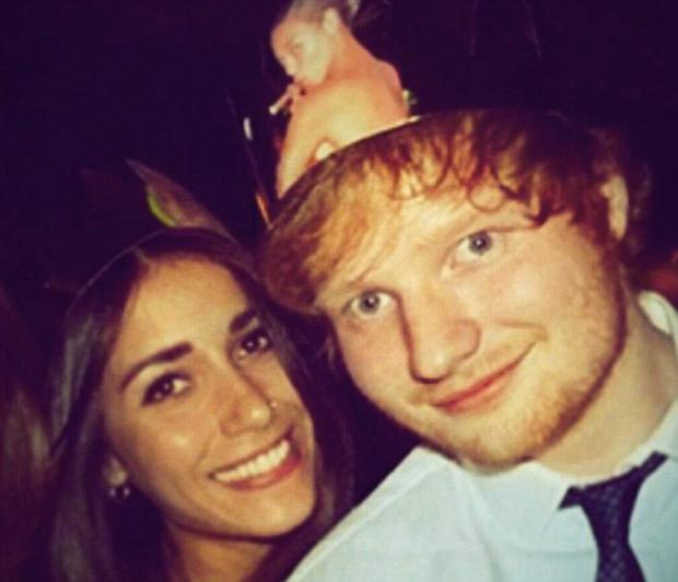 Ed and girlfriend Athina Andrelos