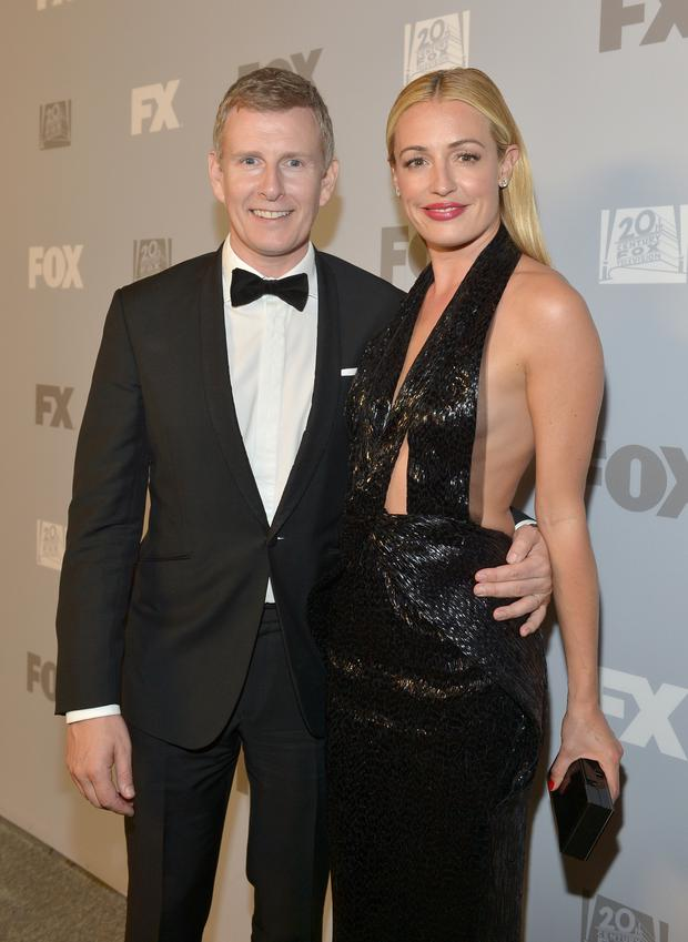 Television personalities Patrick Kielty (L) and Cat Deeley