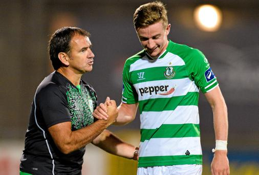 New Shamrock Rovers manager Pat Fenlon will be looking to Ronan Finn to help him get the Hoops back on a winning run. Photo: David Maher / SPORTSFILE