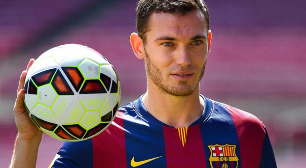 Thomas Vermaelen is unveiled at the Nou camp as Barcelona's latest summer signing. Photo: David Ramos/Getty Images